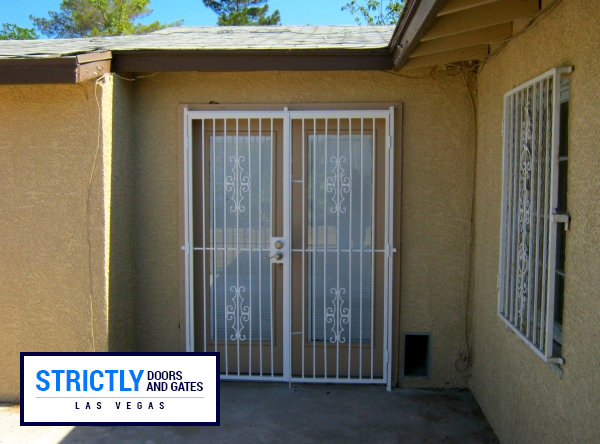 Las Vegas Double Security Doors French Doors Company Strictly Doors And Gates