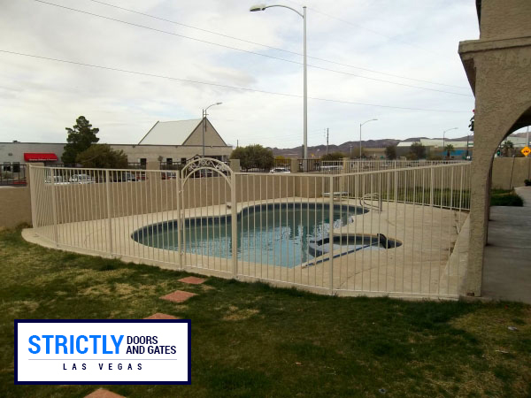Mesh Pool Fencing In Las Vegas Strictly Doors And Gates