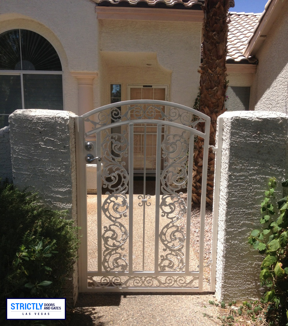 Las Vegas Single Side Yard Gates Company Strictly Doors