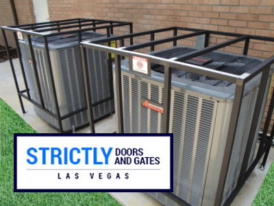 Air Conditioning Security Cages Strictly Doors And Gates